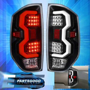 For 14 20 Tundra White Tube Led Brake Tail Lights Lamps Left right Black Clear