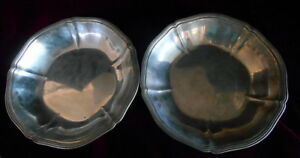 Pair 10 Arthur Stone Associates Sterling Silver Bowls Hand Wrought Ca 1921 27