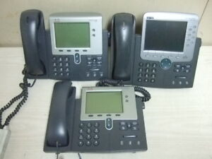 Lot Of 3 Cisco Cp 7942g 7970g 7900 Series Unified Ip Voip Phone Poe For 1 Money