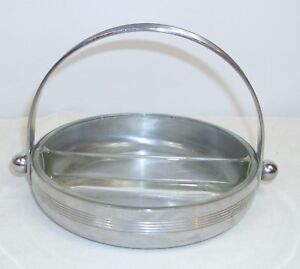 Chase Art Deco Chrome Divided Candy Nut Dish Designer Piece 1930s