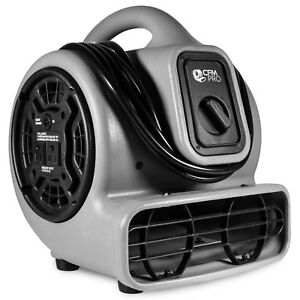 Air Mover 3 Speed 1 5 Hp Blower Fan With 2 Outlets Industrial Grey