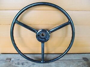 Nos 1940 S 50 Mopar Chrysler Dodge Plymouth Ford Chevy 18 Steering Wheel Black