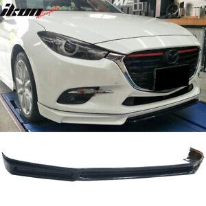 Fits 17 18 Mazda 3 4dr 5dr Mk Style Front Bumper Lip Abs