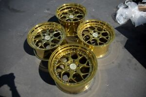 18x9 5 10 5 Aodhan Ds1 5x114 3 22 Gold Vaccum Rims Fits 350z G35 Coupe Used