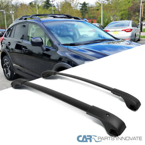 For 10 17 Subaru Impreza Crosstrek Black Roof Cross Bars Luggage Rack Carrier