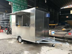 2 5mx2m Stainless Steel Concession Stand Trailer Mobile Kitchen Fryer Grill Hood