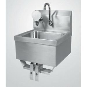 New Wall Mounted Hand Sink With Knee Controllers And Soap Dispenser Controls