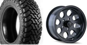 5 17 Ion 171 Black Wheels Jeep Wrangler Jk 35 Atturo Mt Mud Tires Package