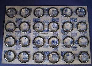 Nor cal Nw 50 cr sv 316l Centering Ring W Viton O ring Nw25 Lot Of 24 New