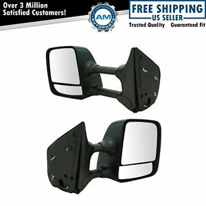 Towing Mirror Manual Chrome Pair Set Of 2 For Nissan Titan New