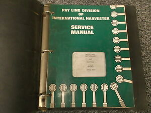 Ih International 260a Pay Loader Backhoe Tractor Shop Service Repair Manual