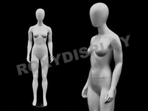 Fiberglass White Abstract Egg Head Mannequin Display Dress Form md gpx01w1eg