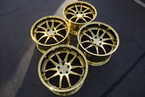 19x9 5 11 Aodhan Ds02 5x114 3 15 Gold Vacuum Rims Fits G35 350z 370z used