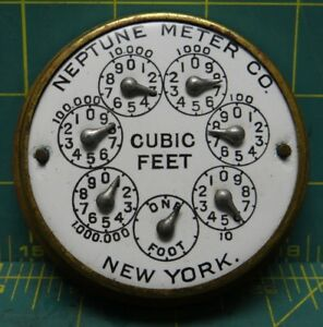 Vintage Neptune Water Co Trident Water Meter No Cap cover