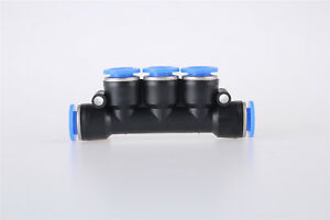 Air Pneumatic 6mm 5 Ports Push In Connector Quick Fittings Adapter