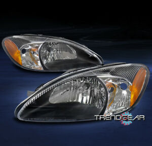 For 2000 2007 Ford Taurus Oe Style Replacement Headlight Headlamp Black Pair Set