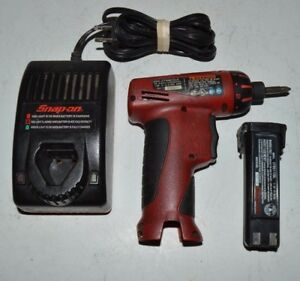 Snap on Cts561 Cordless Screwdriver 1 4 Hex W 7 2v Battery Charger Used
