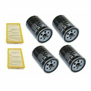 Set Of 4 Engine Oil Filters 2 Air Filters Mahle For Porsche 944 924s 83 89
