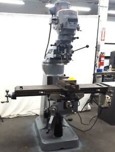 Bridgeport Milling Machine 42 Inch Table Mill Miller 2hp Loaded With Options