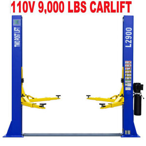 Two Post L2900 Auto Lift 9 000 Lb Capacity Car Vehicle Lift 110v Inq Shipping