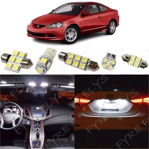 9x White Led Interior Lights Package Kit For 2002 2006 Acura Rsx Tool Ar1w