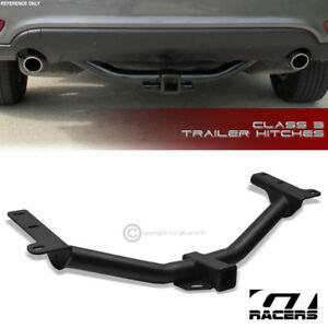 Class 3 Matte Black Trailer Hitch Receiver Bumper Tow 2 For 2009 2018 Journey