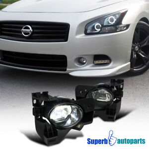 Cool White Fit 2009 2014 Nissan Maxima Clear Led Projector Fog Lights W Switch