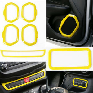 Car Warning Light Cigarette Lighter Door Speaker Moulding Trim For Jeep Renegade