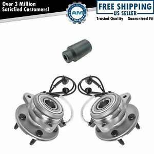 Front Wheel Hubs Bearings Pair W 32mm Socket For Explorer Mountaineer 4x4