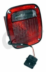 Tail Light W License Lamp Left Fits Jeep 1991 To 1997 Yj Tj Wrangler C 56016721