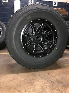 Mo970 17x9 Black Milled Wheels Rims At Tires Package 6x135 Ford F150 6 Lug