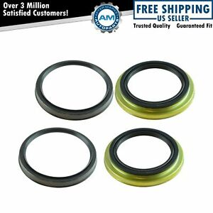 Front Inner Outer Wheel Seal Kit Set Of 4 For 4runner Sequoia Tacoma Tundra