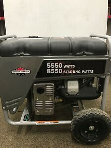 Briggs Stratton Portable Gas Home Generator 5550 Watts 10 Hp Backup Power Used