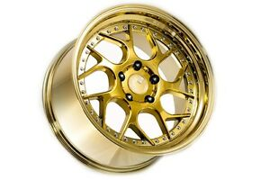 18x9 5 Aodhan Ds01 5x114 3 30 Gold Vacuum Rims Fits Accord Rsx Tsx Tl Rx8 Is300