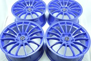 17 Blue Wheels Rims Civic Rav4 Highlander Matrix Legacy Soul Sportage Im 5x114 3