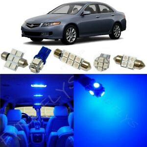 12x Blue Led Interior Lights Package Kit For 2004 2008 Acura Tsx Tool At2b