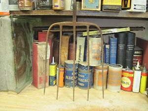 5 Tine Hay Fork Old Farm Tool Rusty Vintage Original Country Primitive Antique