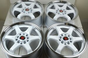 17 White Wheels Rims Tsx Tc Im Frs Prelude Civic Forester Xb Camry 5x100 5x114 3