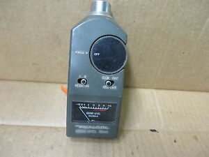 Realistic Vintage Electronic Sound Level Decibel Meter 10 To 8 Db Used
