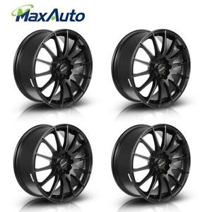 17x7 45 Offset 5x100 5x114 3 Matt Black Wheels Rims 17 Inch Set Of 4