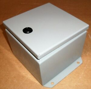 Electrical Enclosure Junction Box Hammond Ej664 Nema 12 Metal 6 4 New As Shown