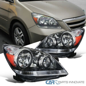 Fit 05 07 Honda Odyssey Replacement Clear Lens Headlights Driving Headlamps Pair