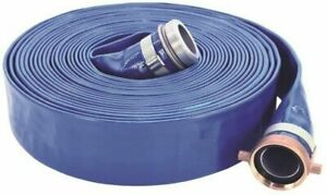 Udp 1147 2000 50 Lay flat Discharge Hose Assembly 2 In 50 Ft Threaded Male X