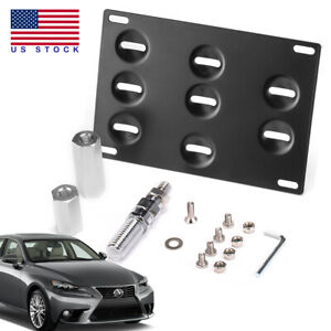 Bumper Tow Hook License Plate Mount Bracket Holder For Lexus Is Ct Gs Rc Isf Rx
