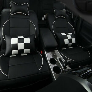 New 10pcs Set Pu Leather Car Seat Covers Cushion Fit For Honda Five Seats Car
