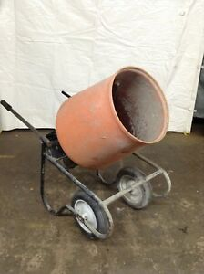Kushlan 350dd Cement Mixer 3 5 Cu Ft Concrete Electric Portable Machine Used
