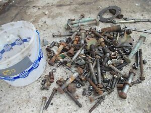 Oliver 550 Tractor Box Of Bolts Nuts Washers Pieces Parts