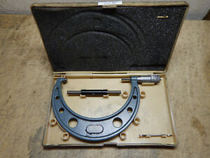 Mitutoyo 103 118 5 6 Carbide Faced Micrometer With Case Standard