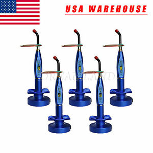5 dental Wireless Cordless Led Cure Curing Light Lamp Blue Usa Stock F ti