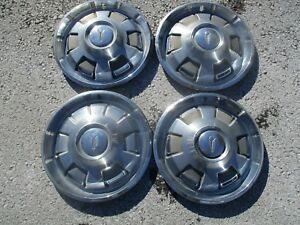 Genuine 1967 To 1969 Plymouth Barracuda Valiant 14 Inch Hubcaps Wheel Covers Set